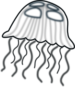Cartoon Jellyfish Black And White
