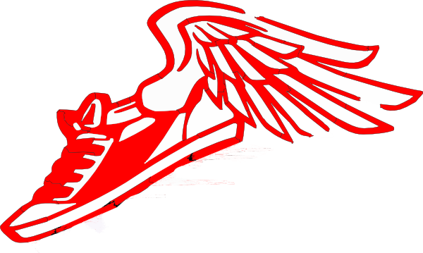 Running Shoe With Wings Clip Art at Clker.com - vector clip art ...
