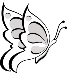 blank butterfly clip art at clker com vector clip art online rh clker com butterfly flying outline clipart butterfly flying outline clipart