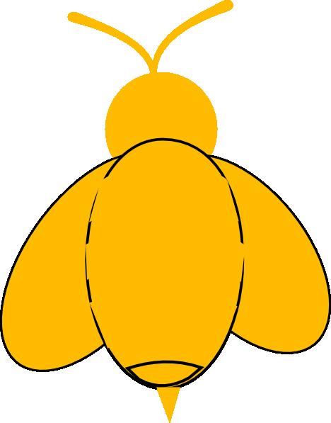 Yellow Bumble Bee Clip Art at Clker.com - vector clip art ...