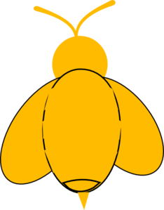 Yellow Bumble Bee Clip Art