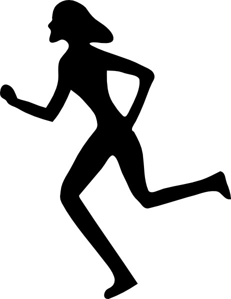 Woman Running Clip Art