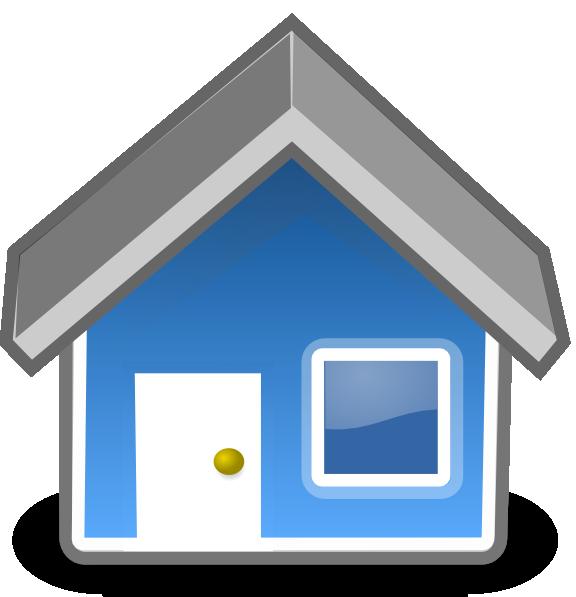 clip art blue house - photo #11