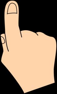 Finger Clip Art at Clker.com - vector clip art online ...