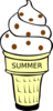 Butter Pecan Ice Cream Cone Clip Art