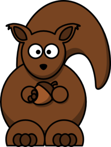 Carton Squirrel -- Thicker Lines Clip Art
