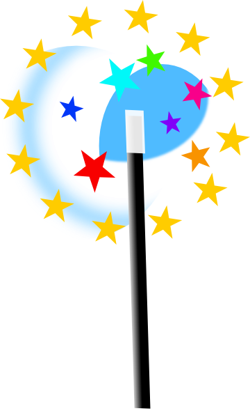 Small Magic Wand Clip Art at Clker.com - vector clip art online ...