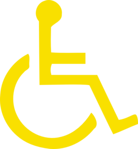 Light Yellow Handicapped Symbol Clip Art