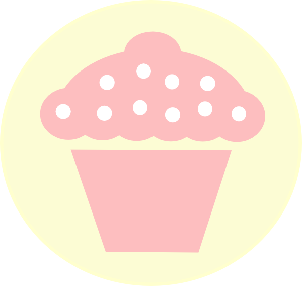 Polka Dot Cupcake Black Clip Art At Clker Com