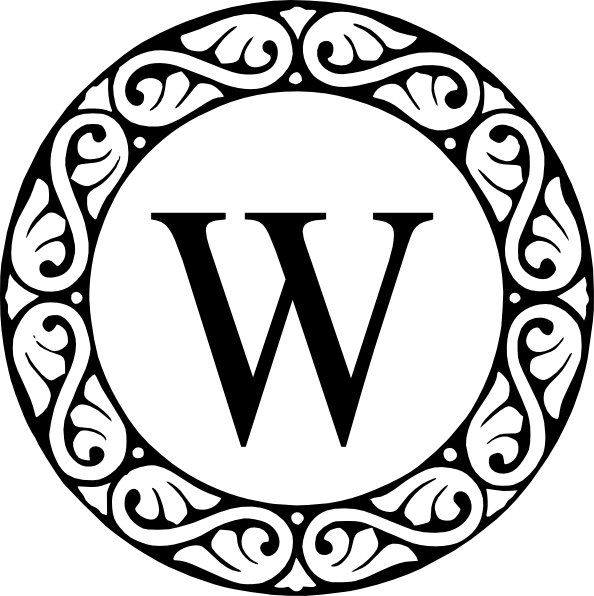 Letter W Monogram Clip Art At Clker Com Vector Clip Art Online