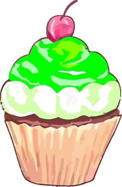Green Cupcake Clip Art At Clker Com Vector Clip Art