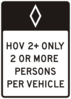 Hov Road Sign Clip Art