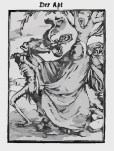 The Abbot From The Dance Of Death By Hans Holbein The Younger Clip Art