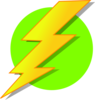 Lightning Green Circle 2 Clip Art
