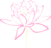 Cream Pink Lotus Clip Art