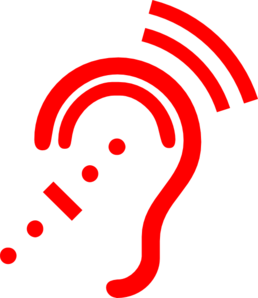 Red Hearing Aid Clip Art
