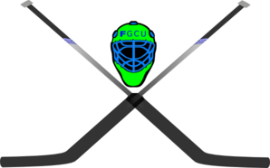 Hockey Mask & Crossed Sticks Clip Art