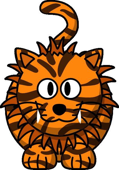 Tiger Cartoon Clip Art at Clker.com - vector clip art ...
