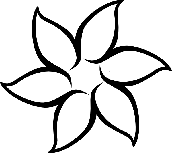 Flower Outline Drawing : Flower outline clip art at clker vector
