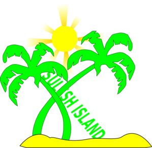 Double Palm Beach  Copyrighted Clip Art