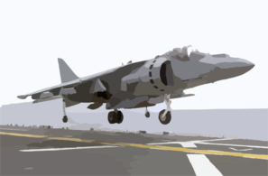 Av-8b Ii Jet Lands On Flight Deck. Clip Art