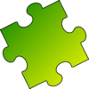 Yellow-green Puzzle Piece - Small Clip Art