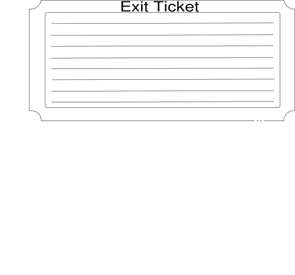exit ticket clipart - photo #4