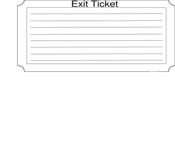 larger exit ticket clip art at vector clip art online royalty free public domain. Black Bedroom Furniture Sets. Home Design Ideas