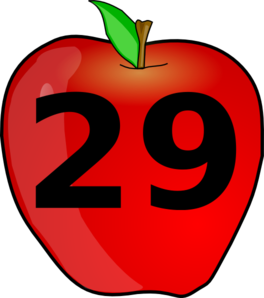 Counting Apple Clip Art