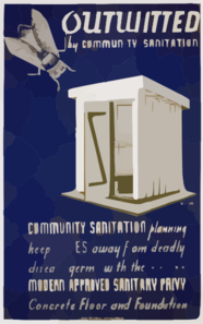 Outwitted By Community Sanitation Community Sanitation Planning Keeps Flies Away From Deadly Disease Germs... / Buczak. Clip Art