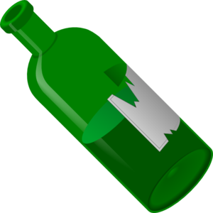 Green Wine Bottle Clip Art