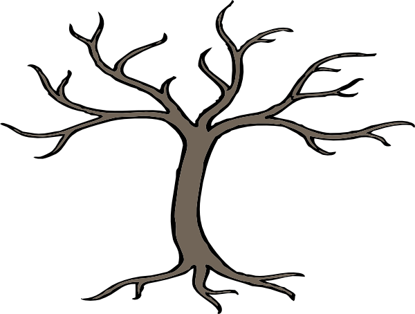 Tree With 3 Branches Clip Art at Clker.com - vector clip art online ...