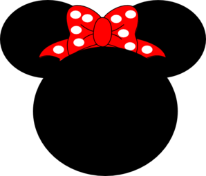 Red Mouse Bow Clip Art