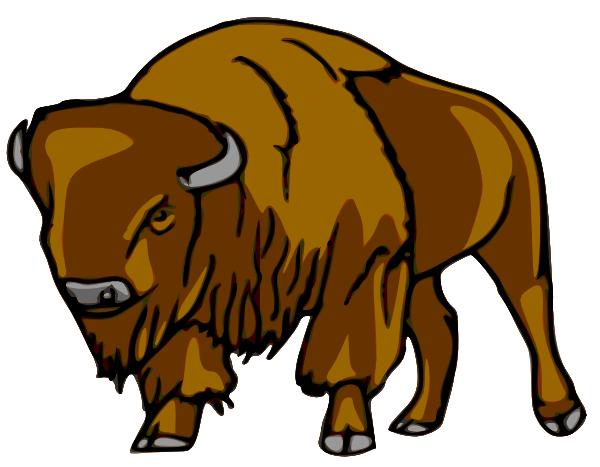bison right clip art at clker com vector clip art online rh clker com ndsu bison clipart free bison clip art