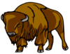 Bison Right Clip Art