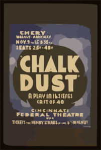 Chalk Dust  A Play In 16 Scenes, Cast Of 40 Clip Art
