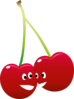 Pair Of Talking Cherries Clip Art