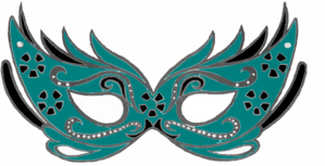 Teal Masquerade Mask Clip Art At Clker Com Vector Online Rh