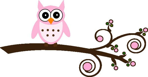 Cute cartoon owls on a branch - photo#2
