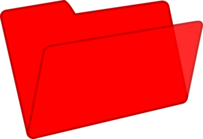 Red Folder Clip Art
