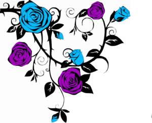 Blue And Purple Rose2 Clip Art