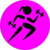 Strong Running Girl Clip Art
