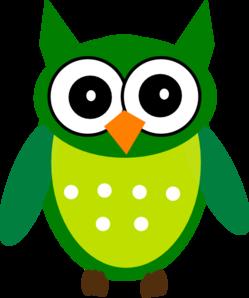green owl clip art at clker com vector clip art online royalty rh clker com green owl clipart shamrock Wise Owl Clip Art