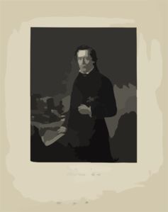 [henry Ward Beecher, Three-quarter Length Portrait, Standing Next To Table, Facing Front, Holding Paper In Right Hand]  / Painted By T. Hicks, N.a. ; Engraved By J.c. Mcrae, N.y. Clip Art