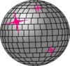 Hot Pink And Silver Disco Ball Clip Art