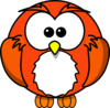 Orange Owlette Clip Art