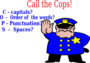 Call The Cops! Clip Art