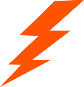 Orange Bolt Clip Art