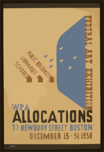 Federal Art Exhibition Wpa Allocations / Nason. Clip Art