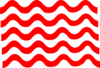 Red Wave Lines Clip Art